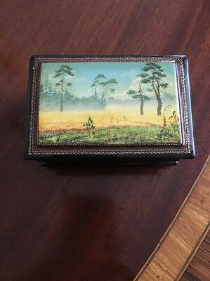 Russische Lackdose, Fedoskino, Russian Lacquer Box