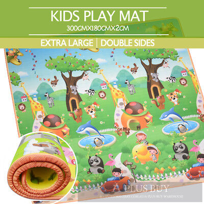 2x1.8m EW Large Baby Toddler Floor Rug Play Mat Animal Alphabet 20mm Thick XL