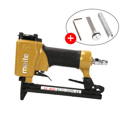 Portable Nail Pneumatic Air Stapler Nailer Staple Stapling Gun Woodwork New