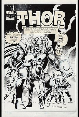 Mighty Thor #7 Variant Cover Art by Alan Davis Marvel Comics