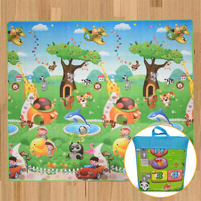 2x1.8m Extra Large Baby Toddler Crawling Play Mat Animal Alphabet 5mm Thick CE