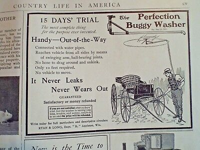1902 PERFECTION BUGGY WASHER ad Counrty Life in America Magazine