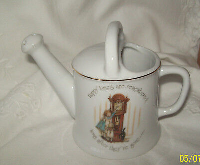"Holly Hobbie  10cm Watering Can Ornament ""Happy Times are Remembered...."