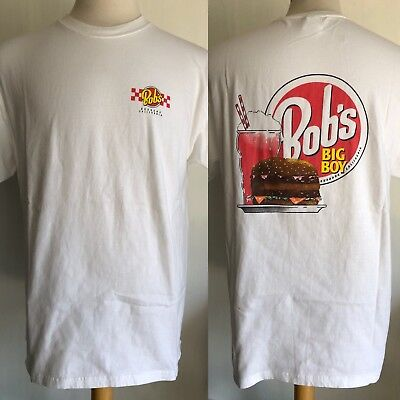 BOB'S BIG BOY Burbank, California Official Sold Out White T-Shirt Size Large