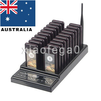 20 Restaurant Coaster Pager Guest Call Wireless Paging Queuing Calling System AU
