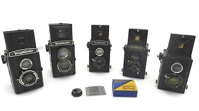 6x Lot Voigtländer Brillant TLR Boxkamera 3763674 Rapid Voigtar lightmeter ie027