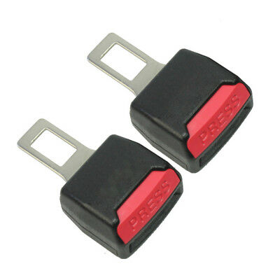2pcs Black Clip Safety Seat Belt Buckle Extender Extension Car Tucker Universal