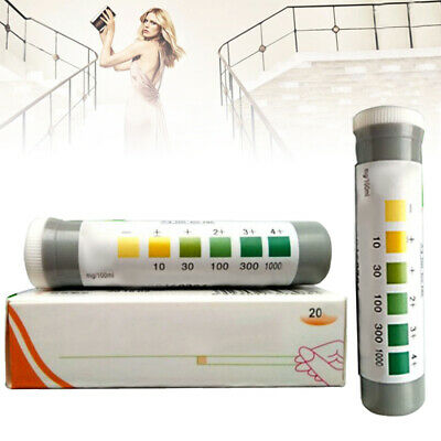 20pcs Ketone Test Protein Urine Test Strips Kidney Urinary Tract Infection Check