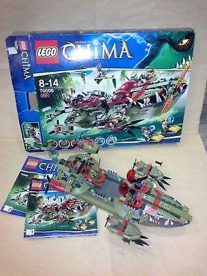 Lego Legends Of Chima 70006 Cragger's Command Ship Vintage