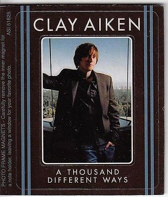 Clay Aiken A Thousand Different Ways RARE promo magnet '06