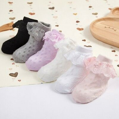 Baby Lace Sock Girls Tiny Newborn Spanish Knitted Cotton Blend Ankle Socks