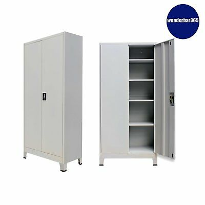 Office Storage Cupboard Steel Filing Cabinet Tool Cabinet Furniture Organiser UK