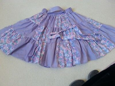 Lilac And Flowers Square Dance Skirt