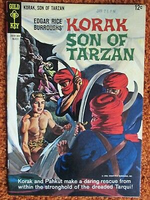Korak Son of Tarzan Gold Key comic by Edgar Rice Burroughs no. 7 March 1965 VF