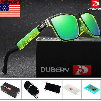 Polarized Driving Sunglasses For Men Square CyclingCoating Sun Glasses US Stock