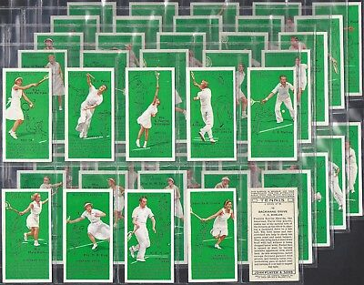 Players-Full Set- Tennis (50 Cards) - Exc
