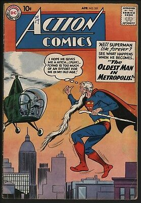 ACTION COMICS #251 GREAT COVER! AND THE 1st LOOK AT SUPERGIRL! TIGHT STRUCTURE
