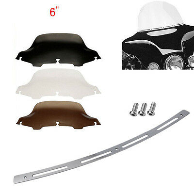 "6"" Windshield Windscreen Chrome Trim For 96-13 Harley Touring Street Glide"