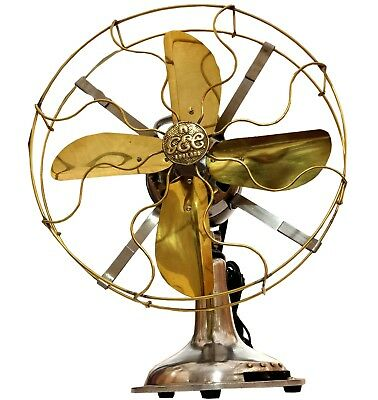 Fan-tastic Vintage Collectible Functional Brass Blade Cage Desk Table Fan BF 01