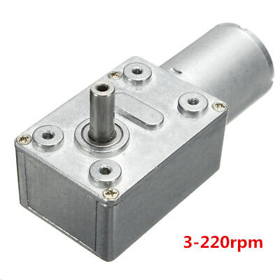 DC 12V Reversible High Torque Turbo Worm Geared Motor 3-220rpm Self-Locking UK