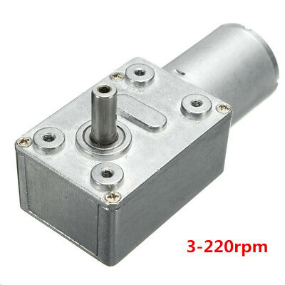 Reversible DC 12V High Torque Turbo Worm Geared Motor 3-220rpm Self-Locking UK