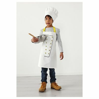 IKEA Children's Cooking Apron With Chef's Hat - 100% Cotton