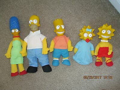 1990 Burger King Simpson Dolls Set of 5