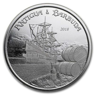 2 $ Dollar EC8 Eastern Caribbean 8 Rum Runner Antigua & Barbuda 1 oz Silber 2018