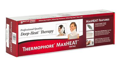 "Battle Creek Thermophore Max Heat Therapy Neck Head Heating Pad Petite 4""x17"""