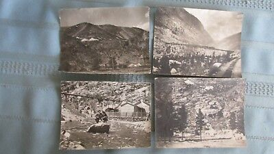 Four Silver Plume Colorado Original Print Photos-Mines & Buildings-Railroads-