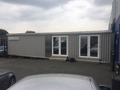 40ft office workshop air con recently completed great site office design studio