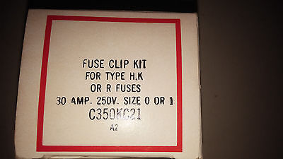 Cutler Hammer C350Kc21 New In Box Fuse Clip Kit 30A 250V See Pics #b14