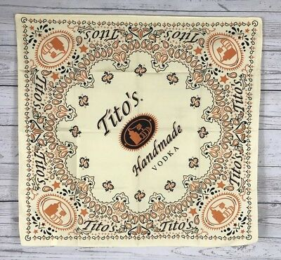 Collectible Titos Handmade Vodka Bandana Soft Yellow