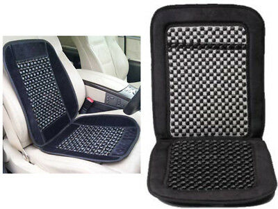 Wooden Wood Beaded Massage Cover Car Van Bus Vehicle Seat Travel Back Support