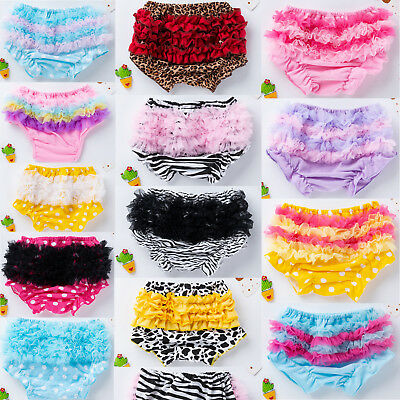 Toddler Baby Girl Ruffle PP Pants Bloomers Panty Diaper Nappy Cover Panties 6-24
