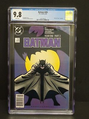 """Dc Batman #405 1987 Cgc 9.8 White Pages Part 2 Of """"year 1"""" Storyline Newsstand"""