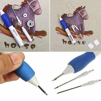 1.3/1.6/2.2mmDIY Diameter Embroidery Magic Embroidery Pen Clothing Punch·Needle!