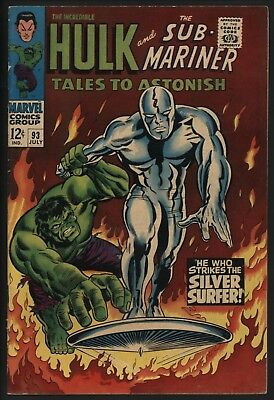 Tales To Astonish #93 Hulk Vs Silver Surfer Classic! Glossy Cents + White Pages
