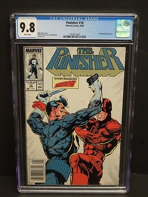 Marvel Comics Punisher #10 1988 Cgc 9.8 White Pages Daredevil Appearance