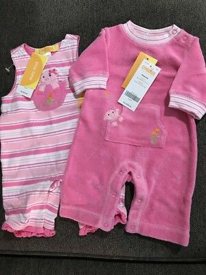 fed9250e8 VINTAGE LOT BABY NEW OLD STOCK PAJAMAS, TERRY COVERALLS, RATTLE ...