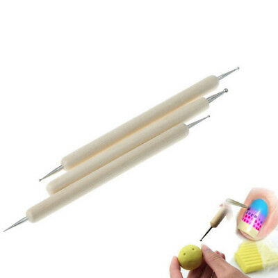 3x/set Ball Stylus Polymer Clay Pottery Ceramic Sculpting Modeling Paint Tool XC
