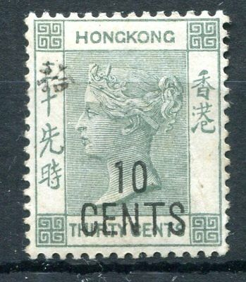 Hong Kong 1898 10c on 30c hinged mint with chinese character