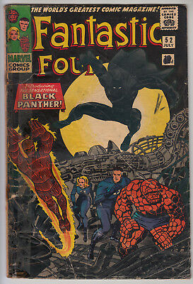 FANTASTIC FOUR #52 VG/GD (3.0) Pence - Ist App Black Panther