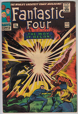 FANTASTIC FOUR #53 VG (4.0) Pence - Origin of  Black Panther