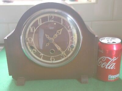 ART DECO SMITHS ENFIELD WESTMINSTER CHIME  MANTLE CLOCK IN VERY GOOD CONd & FWO