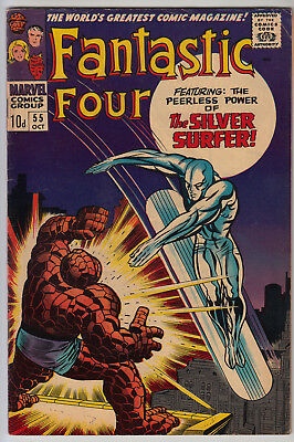 FANTASTIC FOUR #55 VG+ (4.5) VG/FN (5.0) Pence - Thing vs Silver Surfer