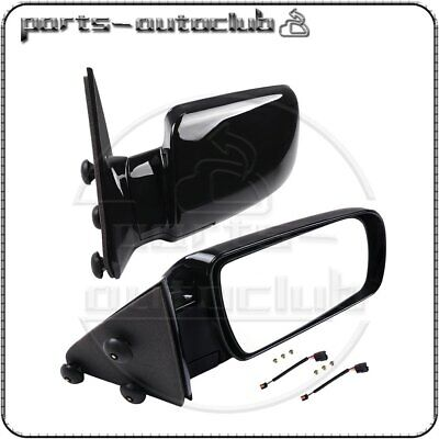 Pair For 88-98 GMC Chevy Pickup Truck Side View Manual Mirrors w/ Metal Bases