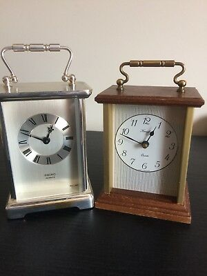Small Lot Of Two Carriage Clocks By Keinzle And Seiko.