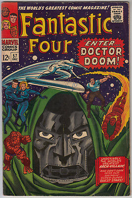 FANTASTIC FOUR #57 VG+ (4.5) Cents