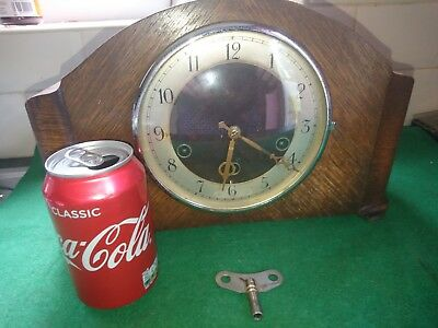 ART DECO H.A.C GERMANY WHITTINGTON  CHIME  MANTLE CLOCK IN VERY GOOD CONd & FWO